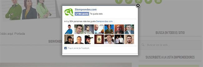 Popup Facebook para WordPress