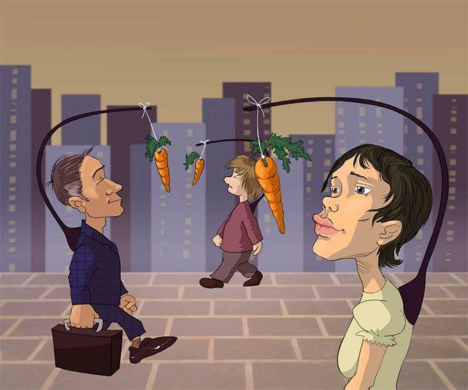 no quiero trabajar, historia de la zanahoria