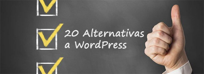 20 Alternativas a WordPress