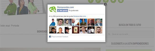 Popup Facebook para WordPress