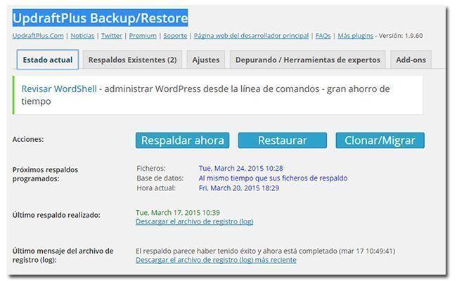 updraftplus Backup Panel5