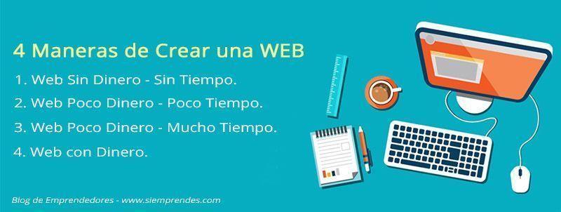 ¿Cuál es la mejor forma de Crear una Página Web? No Necesarios Conocimientos