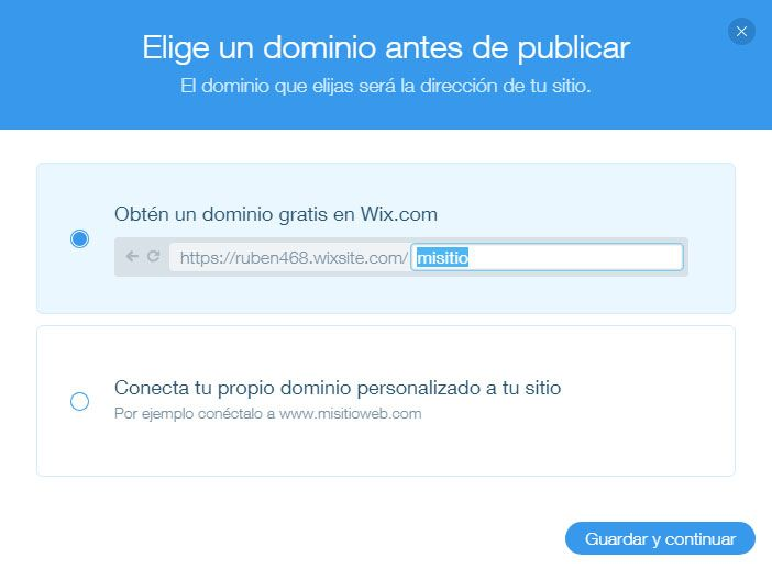 Publicar Web Wix