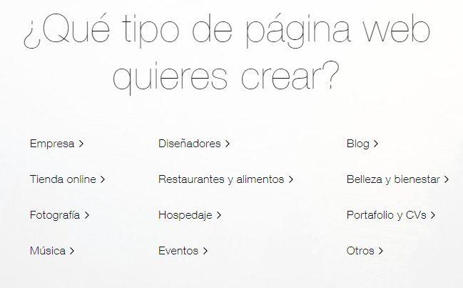 Diferentes Web - Wix Editor