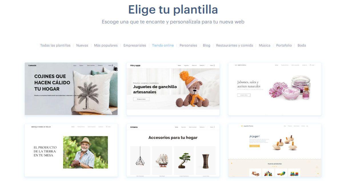 Elegir una Plantilla para Crear la Tienda Online