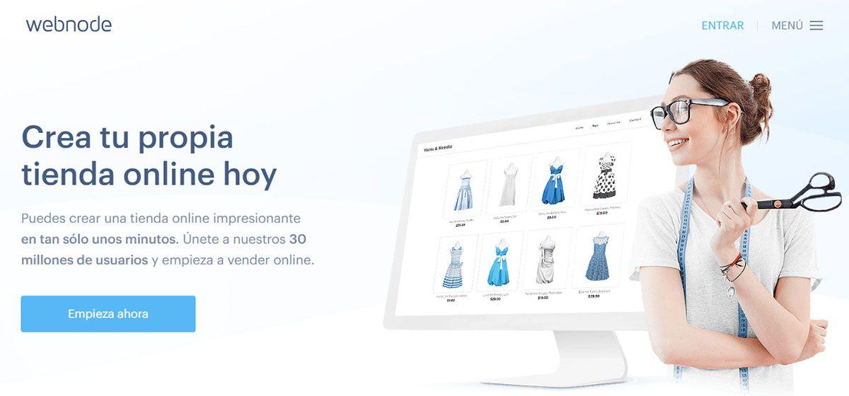 Pantalla Bienvenida para Crear una Tienda Online de Coste Cero