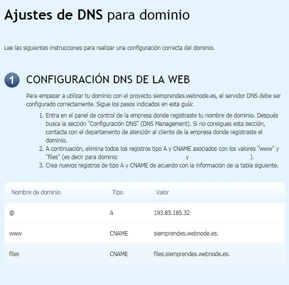 DNS Webnode