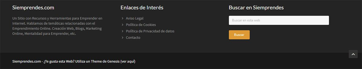 Footer de Siemprendes