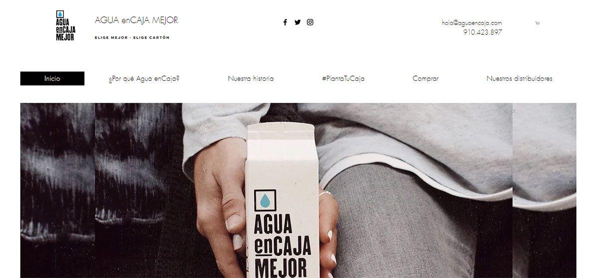 Ejemplo Web Corporativa (www.aguaencajamejor)